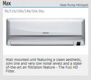 Quickside HVAC Distribution Samsung Max Mini