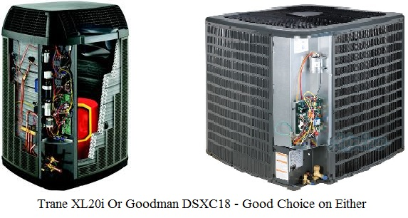 Trane heat pump or Goodman heat pump a fair heat pump comparison of trane vs goodman  at bayanpartner.co